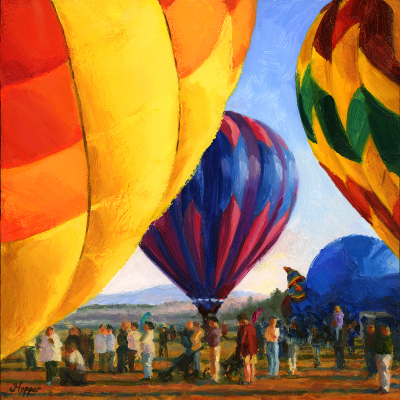 """Liftoff - Getting Ready"" original fine art by Joanne Hopper"