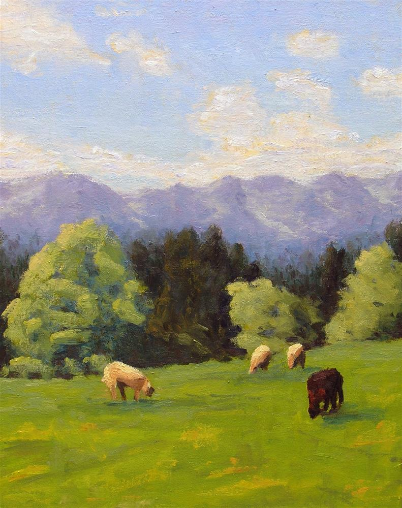 """Sheep's Meadow"" original fine art by Nina Brodsky"