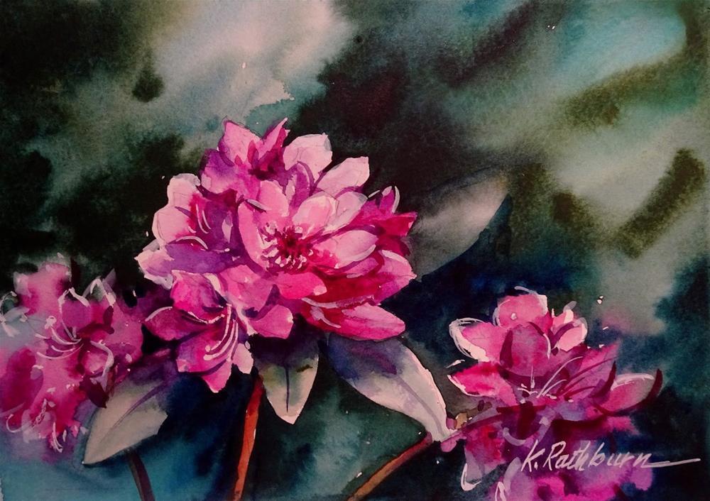 """Rhododendron"" original fine art by Kathy Los-Rathburn"