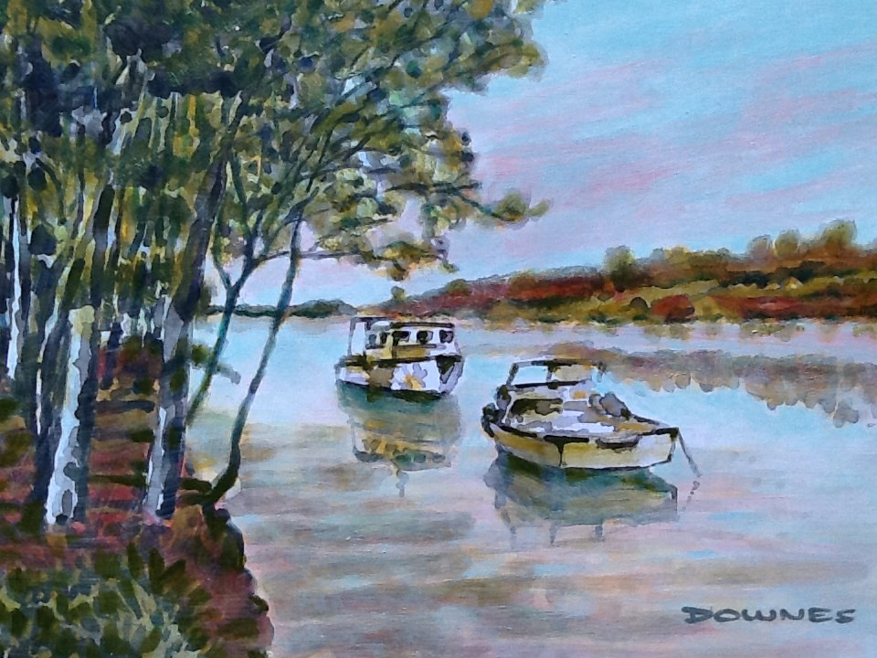 """044 SALT WATER CREEK 3"" original fine art by Trevor Downes"
