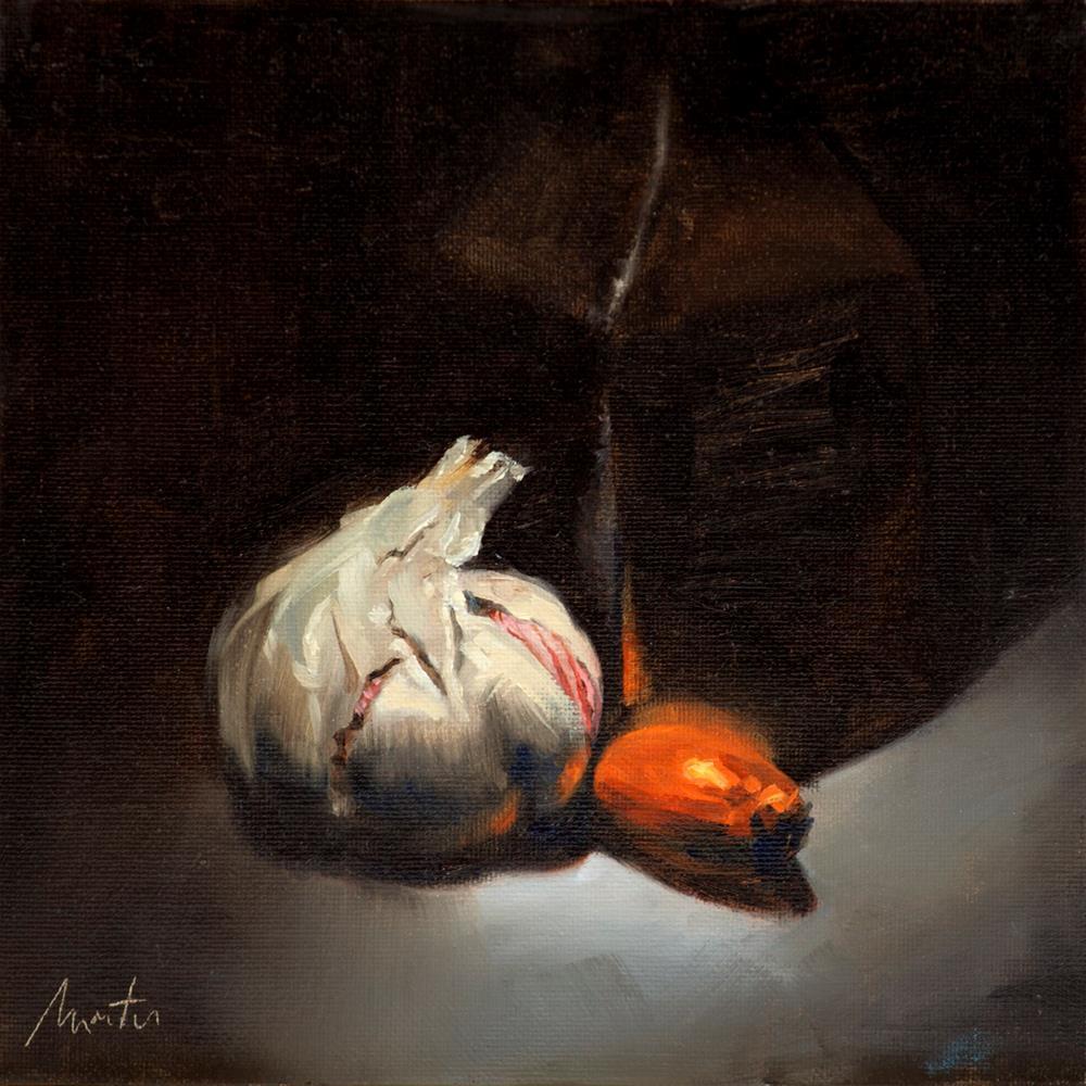 """""""Pink Garlic & Shallot"""" original fine art by Thierry Monter"""