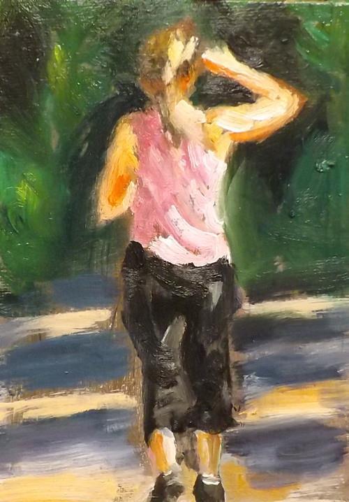 """""""Walking,U20"""" original fine art by Run-      Zhang Zane"""
