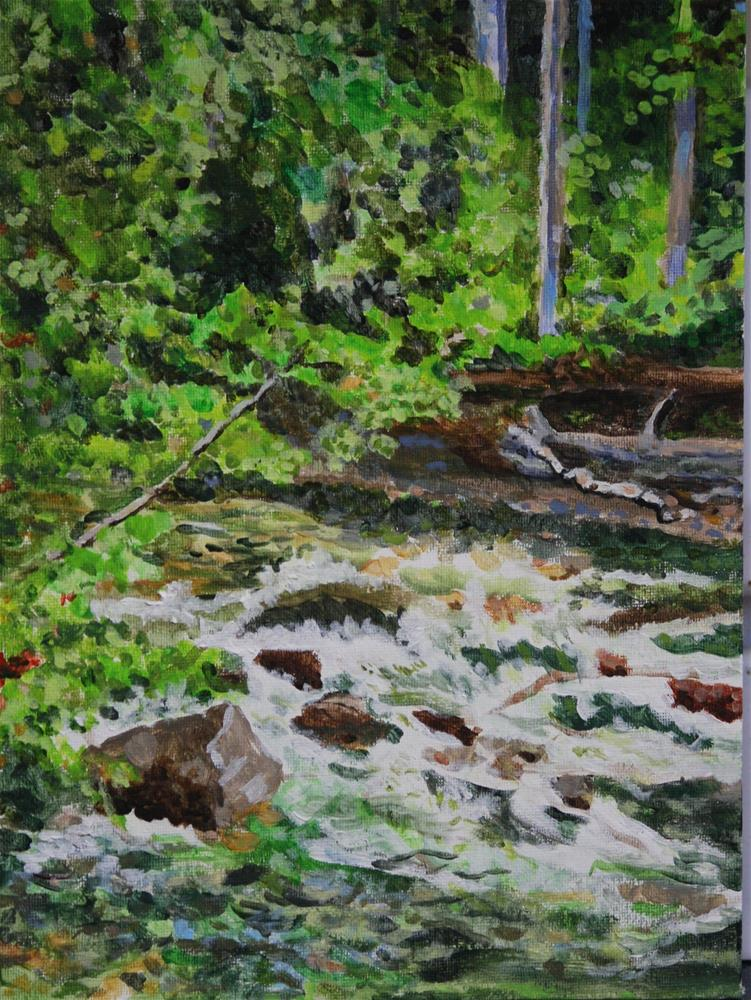 """Mountain Creek"" original fine art by Terri-Anne Barge"