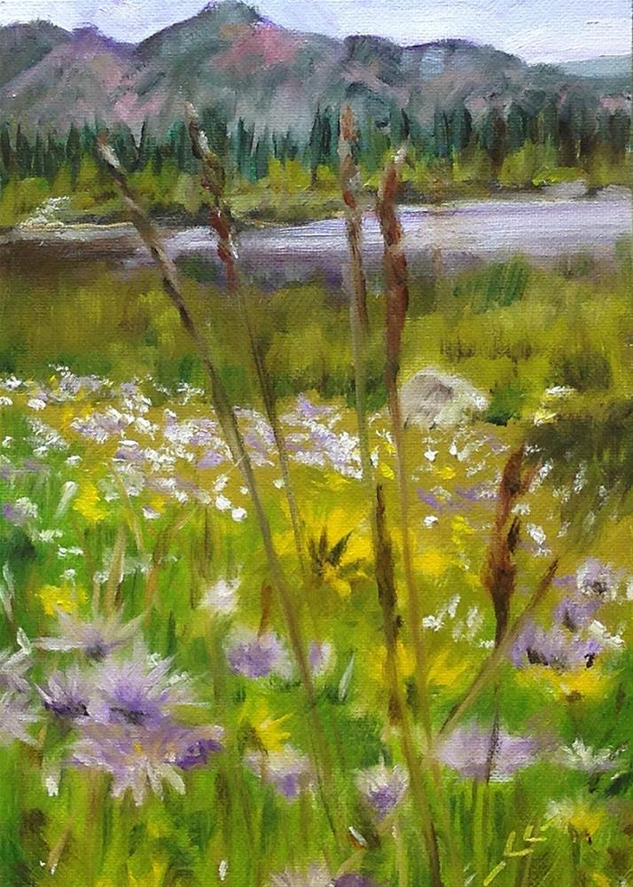 """Wild Flowers"" original fine art by Linda Lowery"