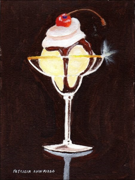 """Hot Fudge Sundae"" original fine art by Patricia Ann Rizzo"