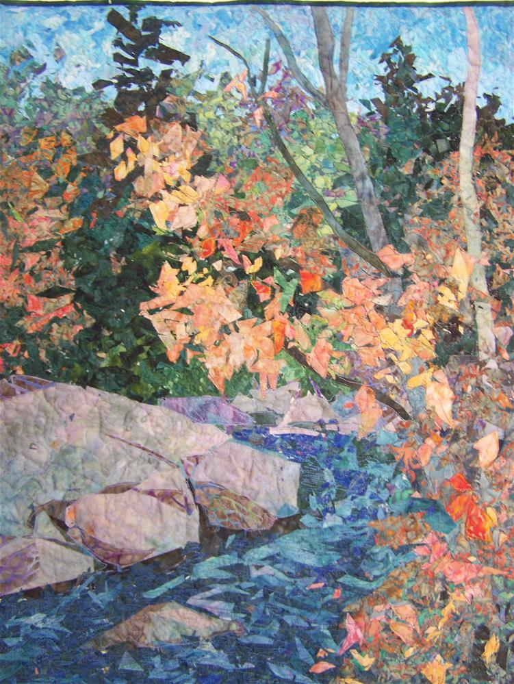 """Fall Creek"" original fine art by Joan Reive"