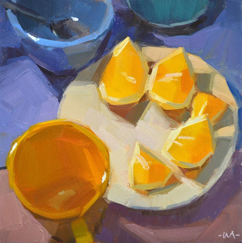 """Arranged Lemons"" original fine art by Carol Marine"