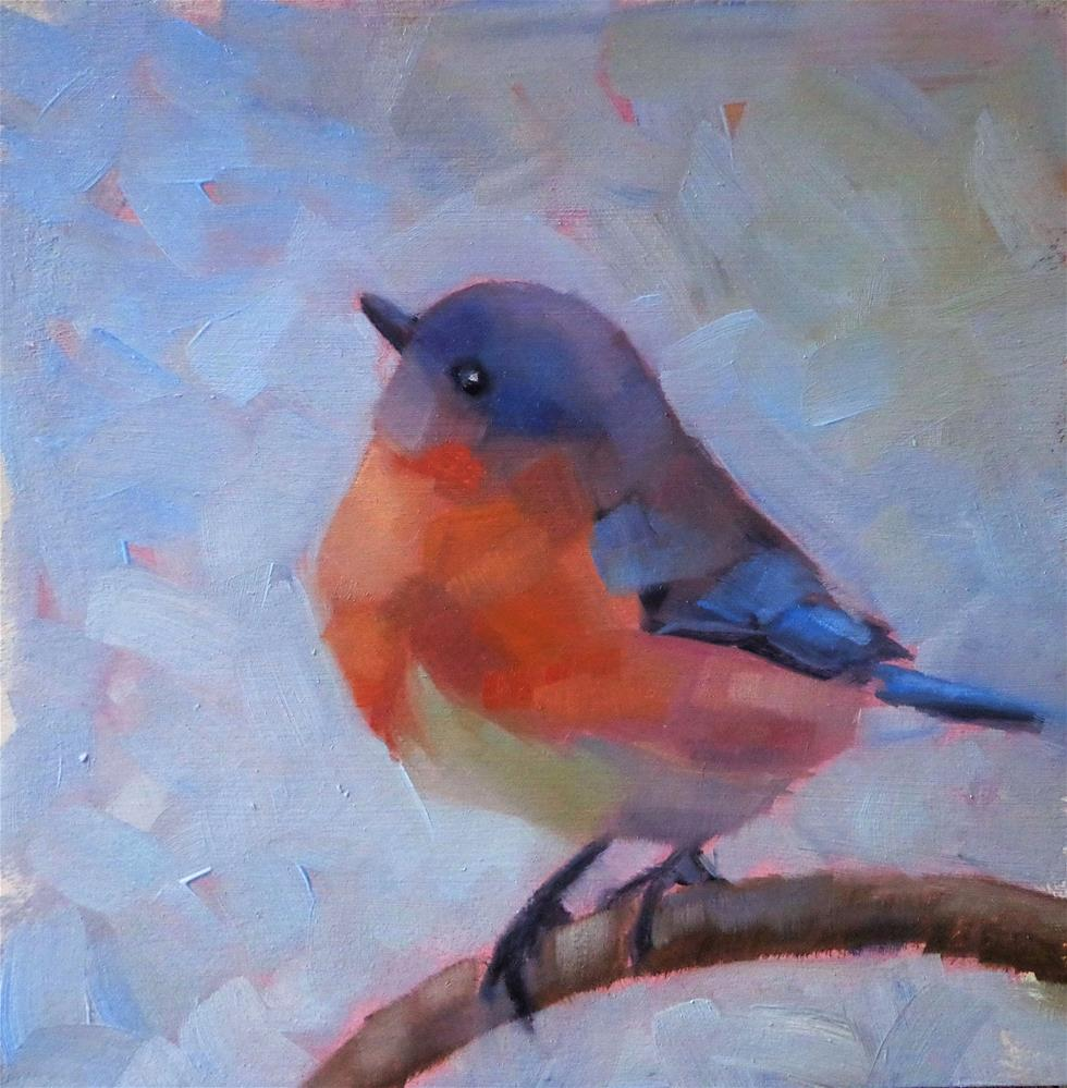 """Bluebird"" original fine art by Maria Z."