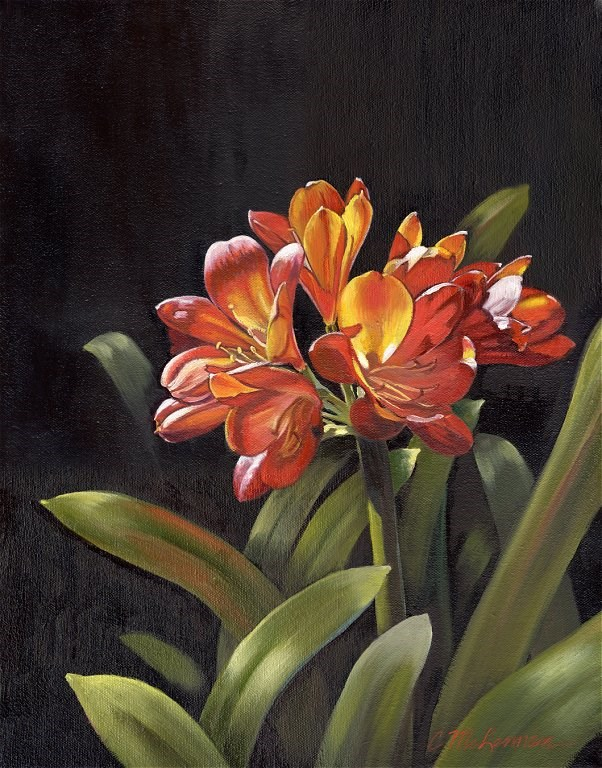 """Clivia"" original fine art by Connie McLennan"