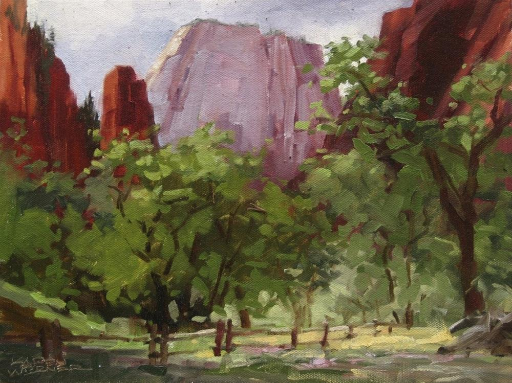"""Zion's Throne"" original fine art by Karen Werner"