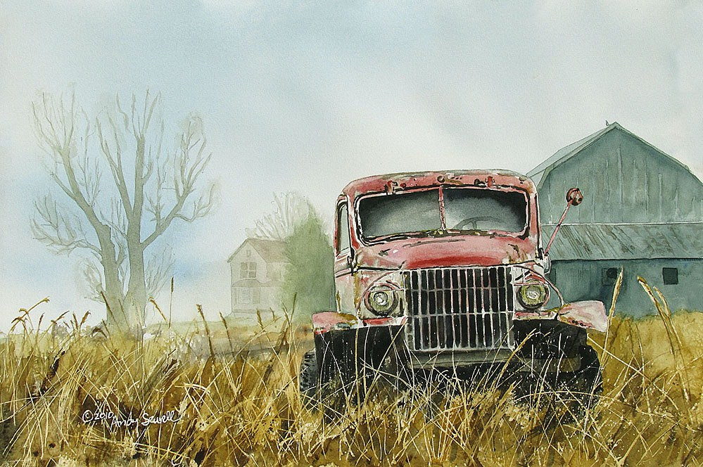 """Chevy in the Pink"" original fine art by Andy Sewell"