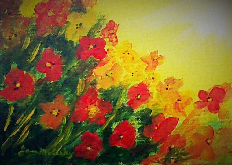 """Wildflower Fields"" original fine art by Jan Molesky"