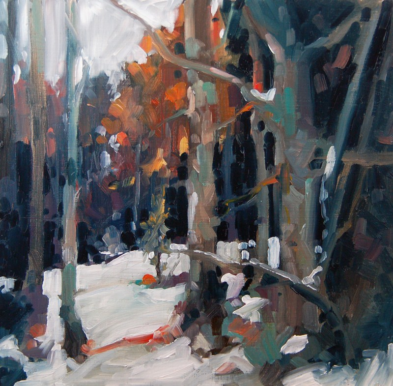 """No 437 Winter Light"" original fine art by Robin J Mitchell"