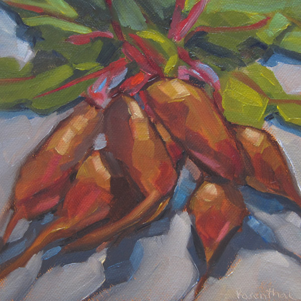 """CSA Beets"" original fine art by Robin Rosenthal"