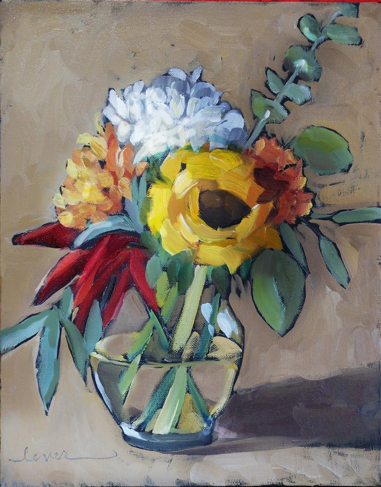 """White Cap and Khaki"" original fine art by Martha Lever"