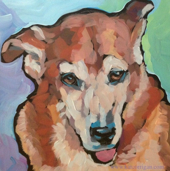 """Lola"" original fine art by Kat Corrigan"