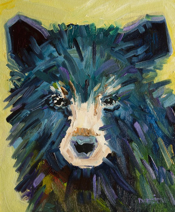 """ARTOUTWEST Diane Whitehead Wildlife animal art Black Bear two"" original fine art by Diane Whitehead"