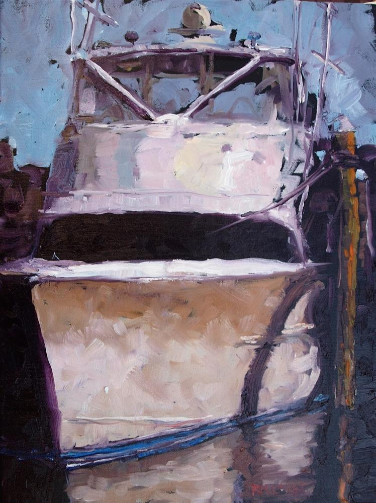 """Moored in Abstraction"" original fine art by Rick Nilson"