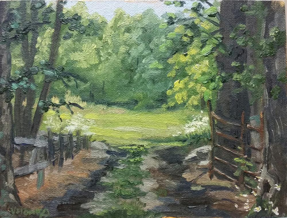 """The gap-en plein air"" original fine art by Veronica Brown"