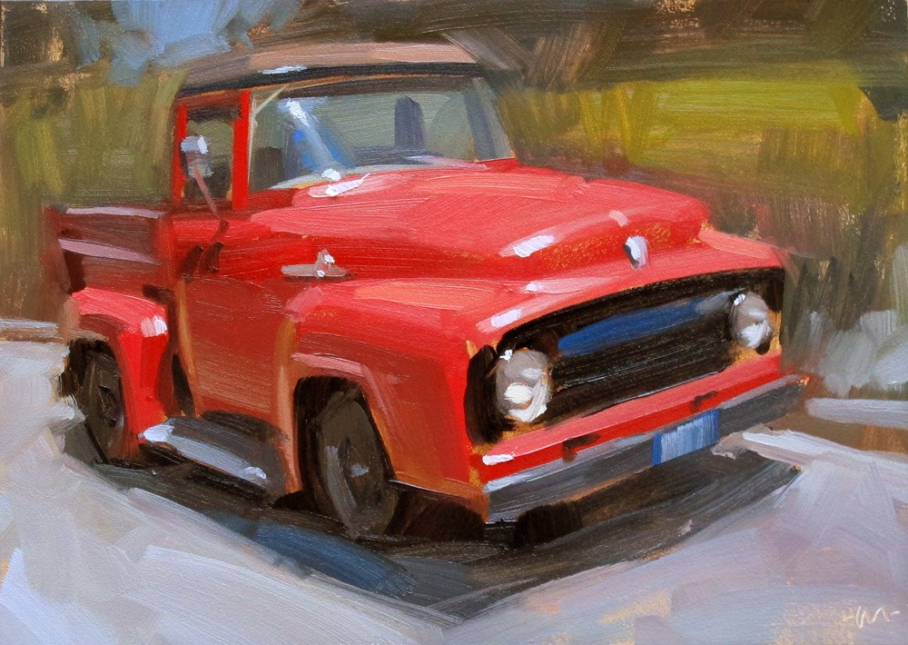"""Red Ride"" original fine art by Carol Marine"
