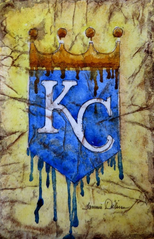 """KC Dripping in Batik"" original fine art by Tammie Dickerson"
