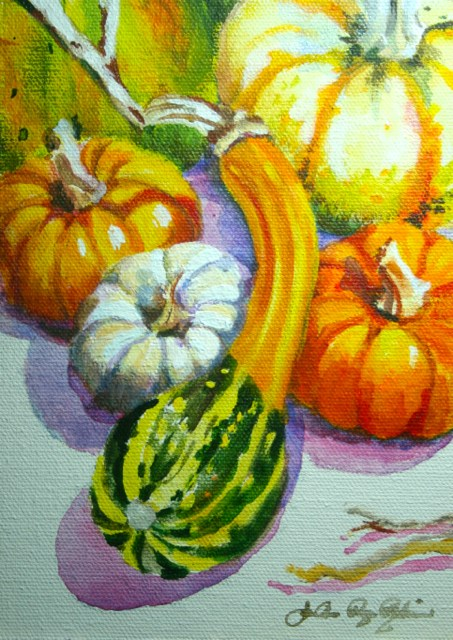 """The Individual Gourd"" original fine art by JoAnne Perez Robinson"