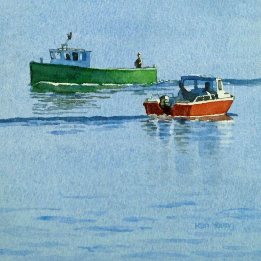 """Opposite Directions"" original fine art by Ken Young"