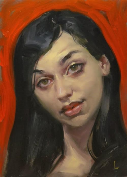"""Rose Red"" original fine art by John Larriva"
