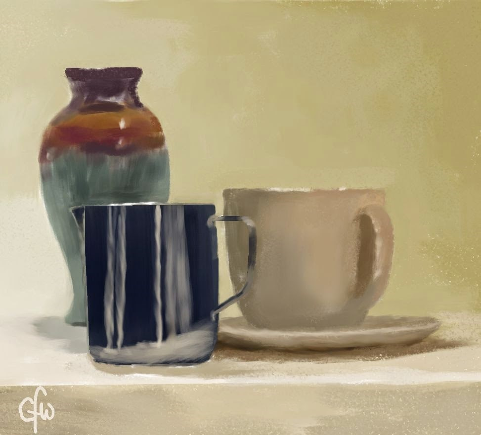 """Vase Pitcher and Cup"" original fine art by Gary Westlake"