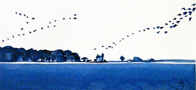 """Sheffield Island Lighthouse - Rowayton Daily Paintings by Gretchen Kelly"" original fine art by Gretchen Kelly"