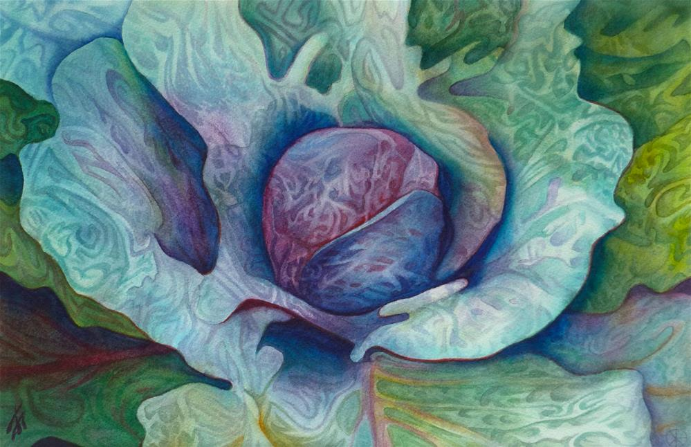 """Red Cabbage"" original fine art by Mark Allison"