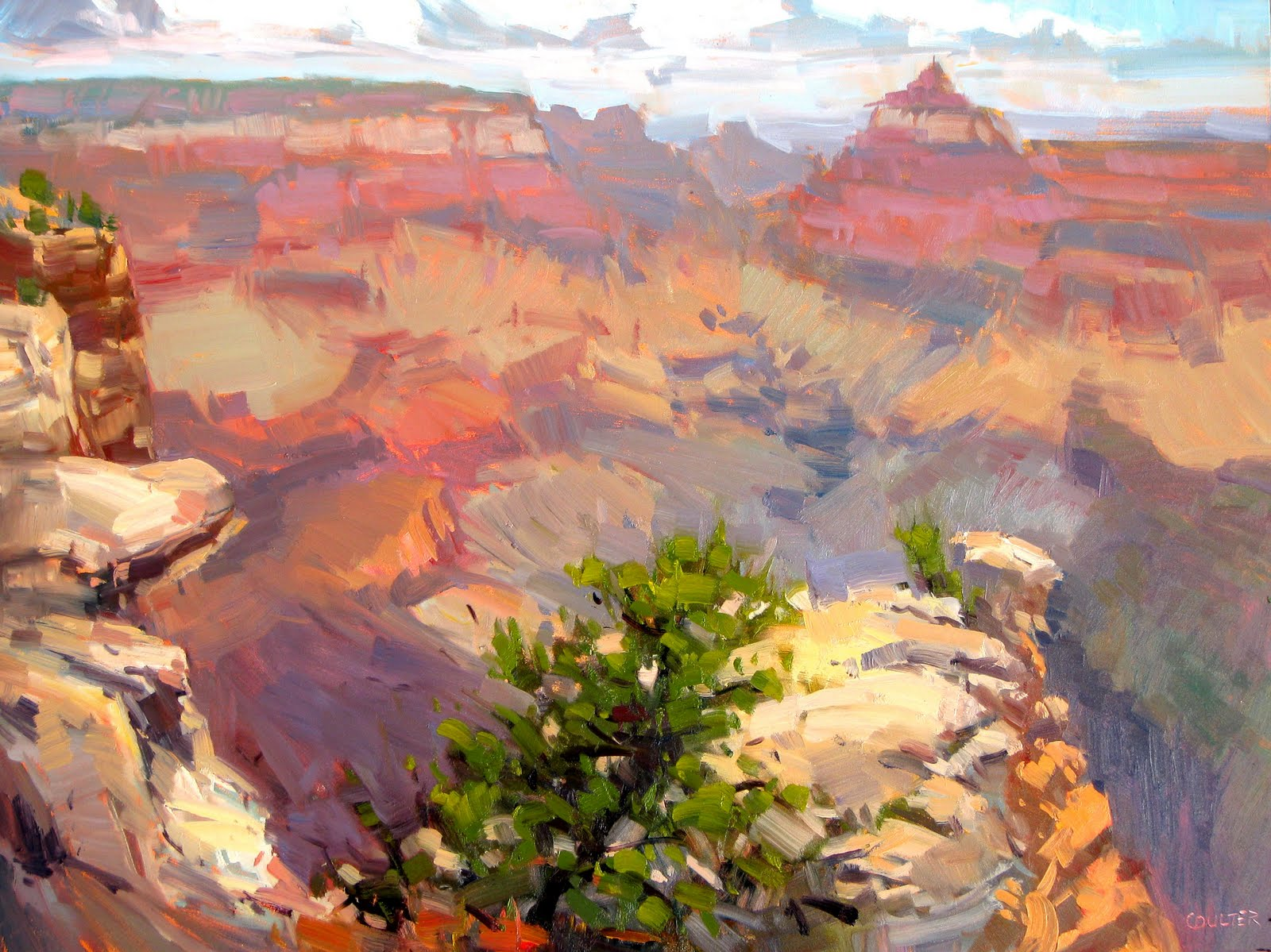 """GRAND CANYON at the EDGE"" original fine art by James Coulter"