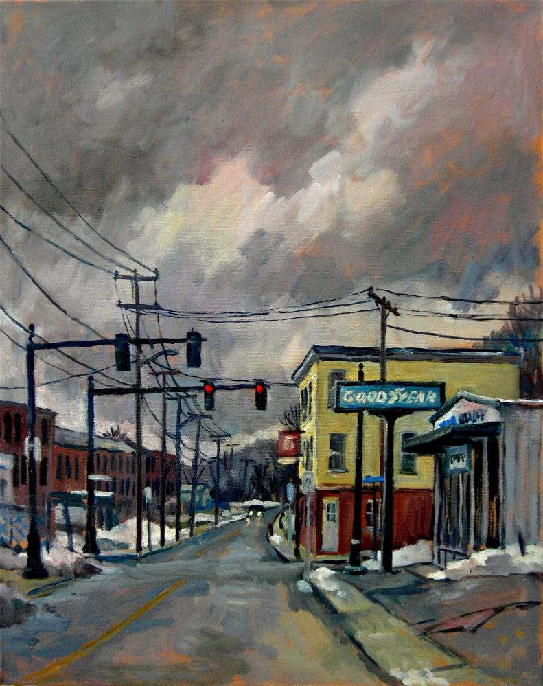 """Goodyear, Snow"" original fine art by Thor Wickstrom"