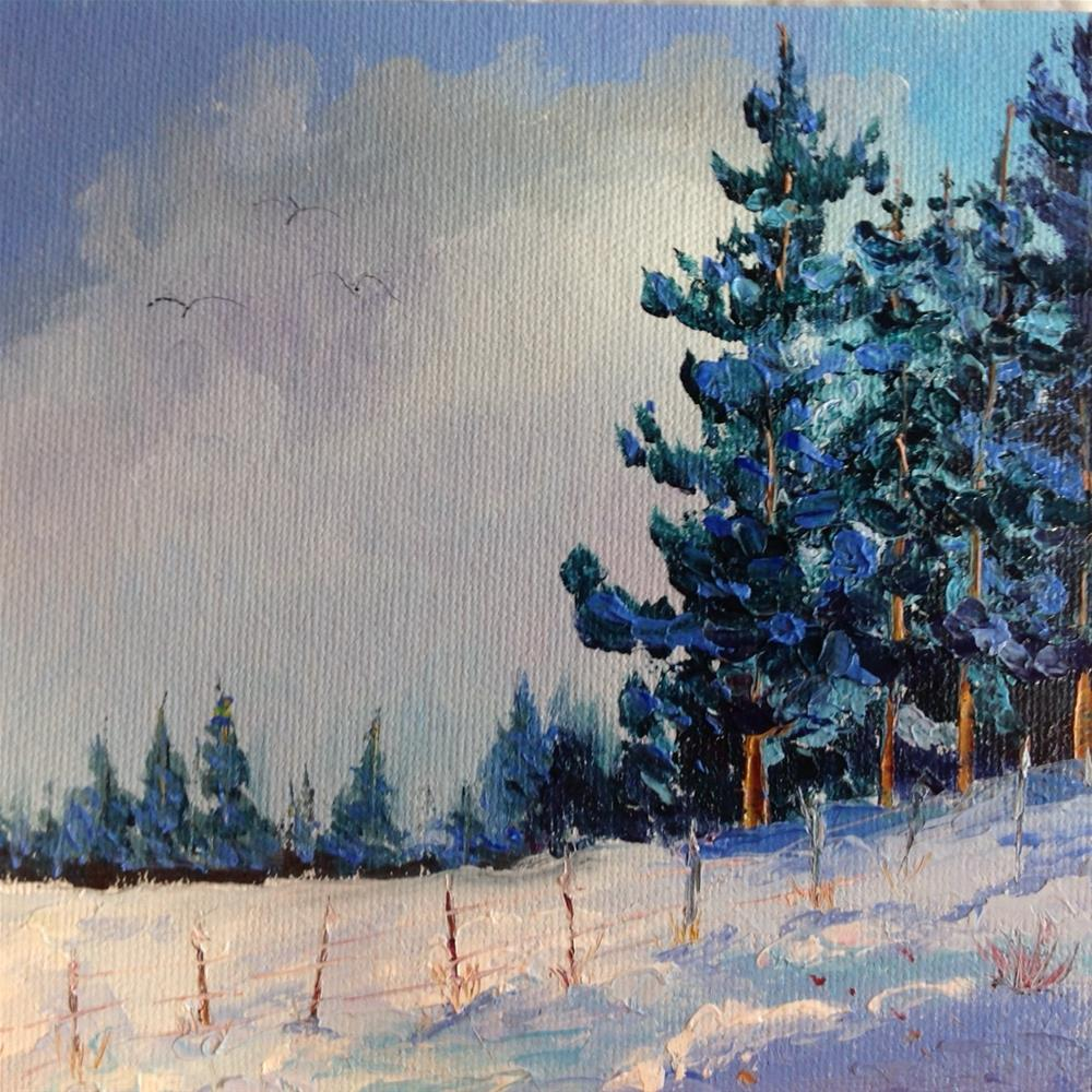 """Snowy Day"" original fine art by Rose Brenner"