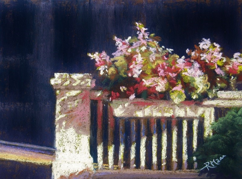 """Balustrade"" original fine art by Ruth Mann"