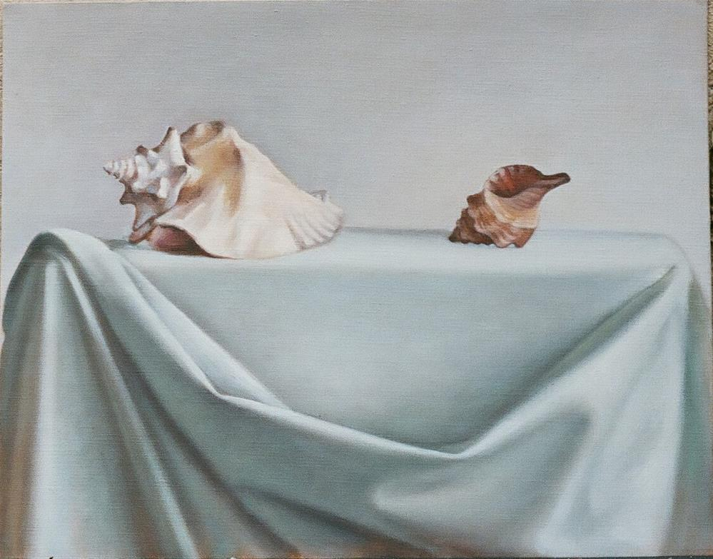"""Two Shells"" original fine art by Megan Schembre"