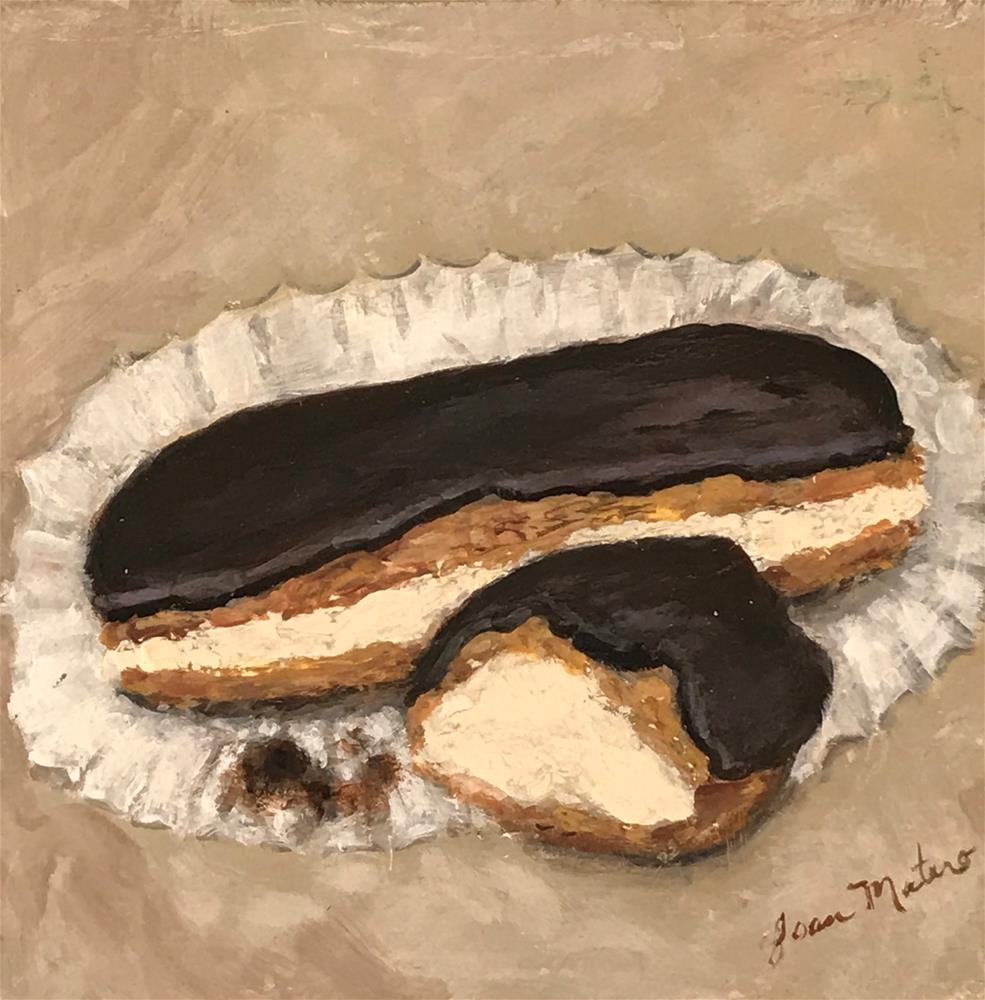 """Chocolate Eclairs"" original fine art by Joan Matero"