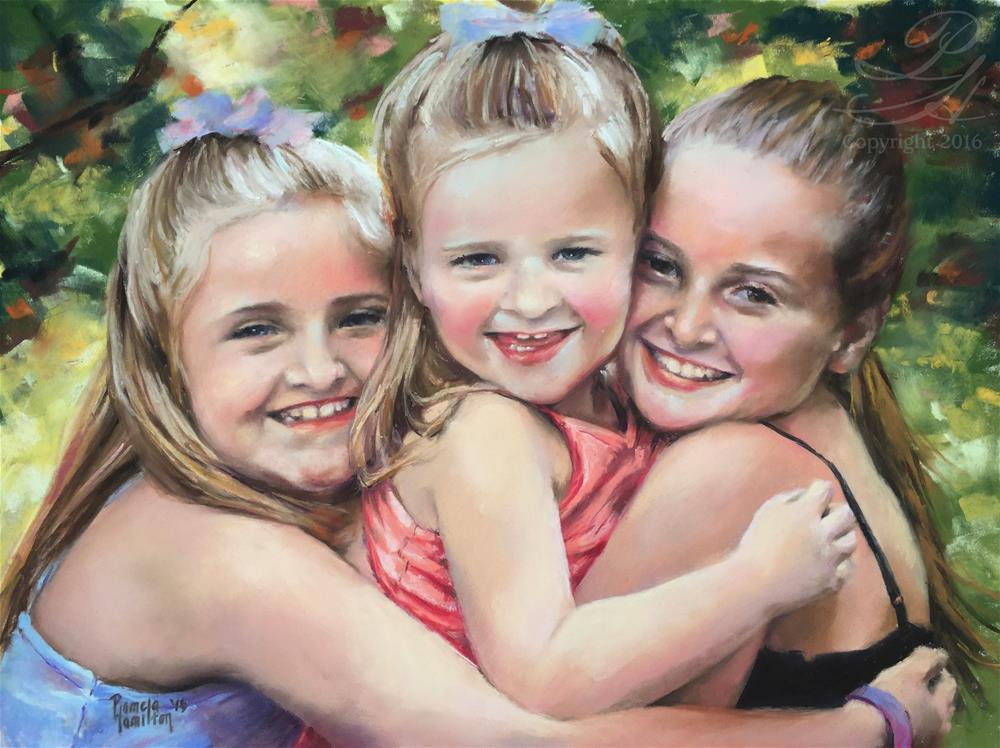 """Sisters"" original fine art by Pamela Hamilton"