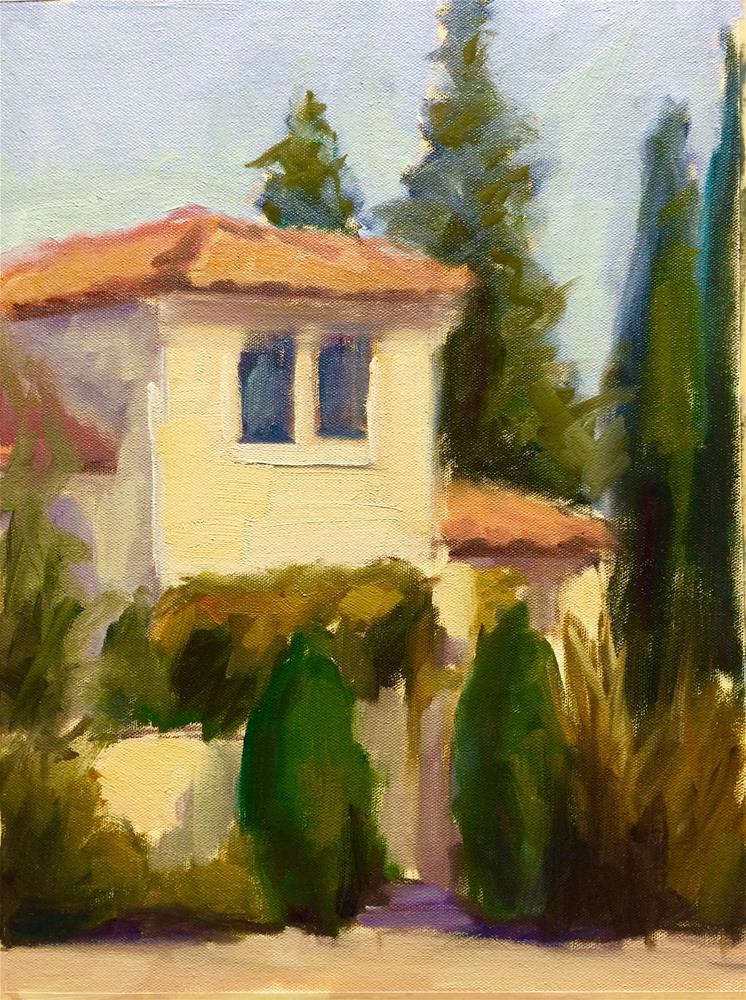 """Italian House"" original fine art by Naomi Bautista"