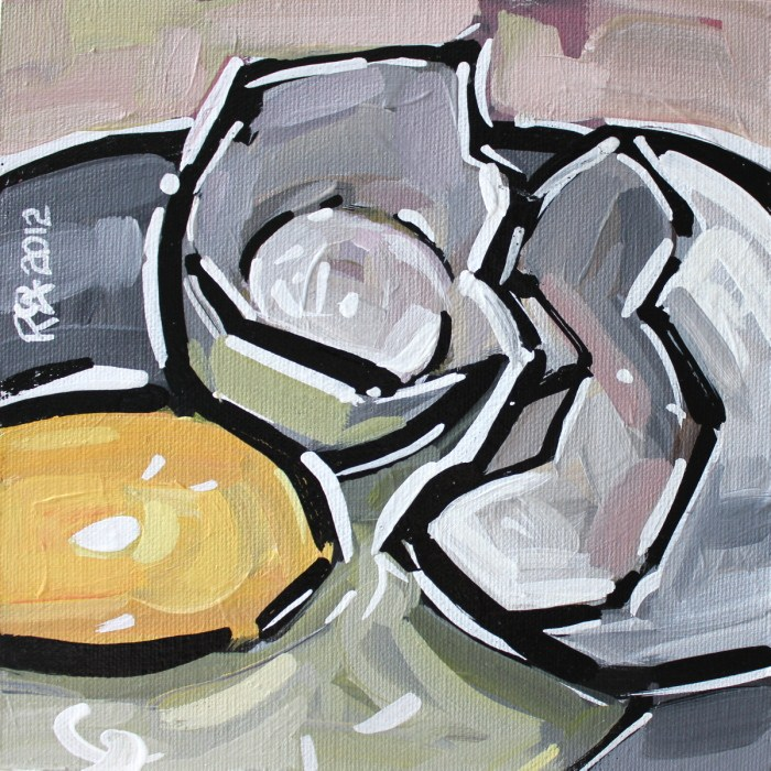 """Egg abstraction 2"" original fine art by Roger Akesson"