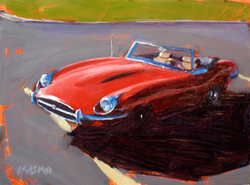 """Red Jag"" original fine art by Dan Graziano"