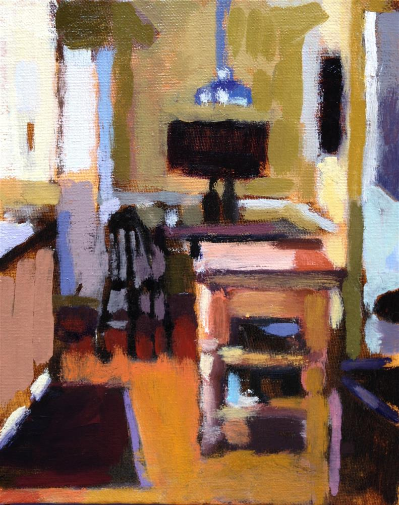 """Impression of My Kitchen (looking south)"" original fine art by Pamela Hoffmeister"