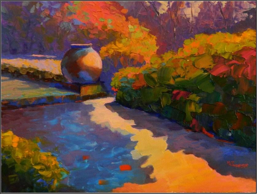 """""""Patterns of Light, 12x16, oil on board"""" original fine art by Maryanne Jacobsen"""
