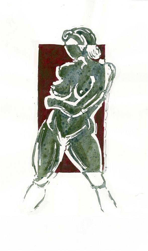 """294 STYLISED LIFE SKETCH 10"" original fine art by Trevor Downes"