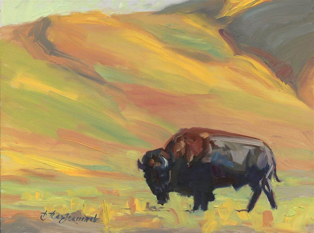 """""""Buffalo """" original fine art by B. Rex Stewart"""