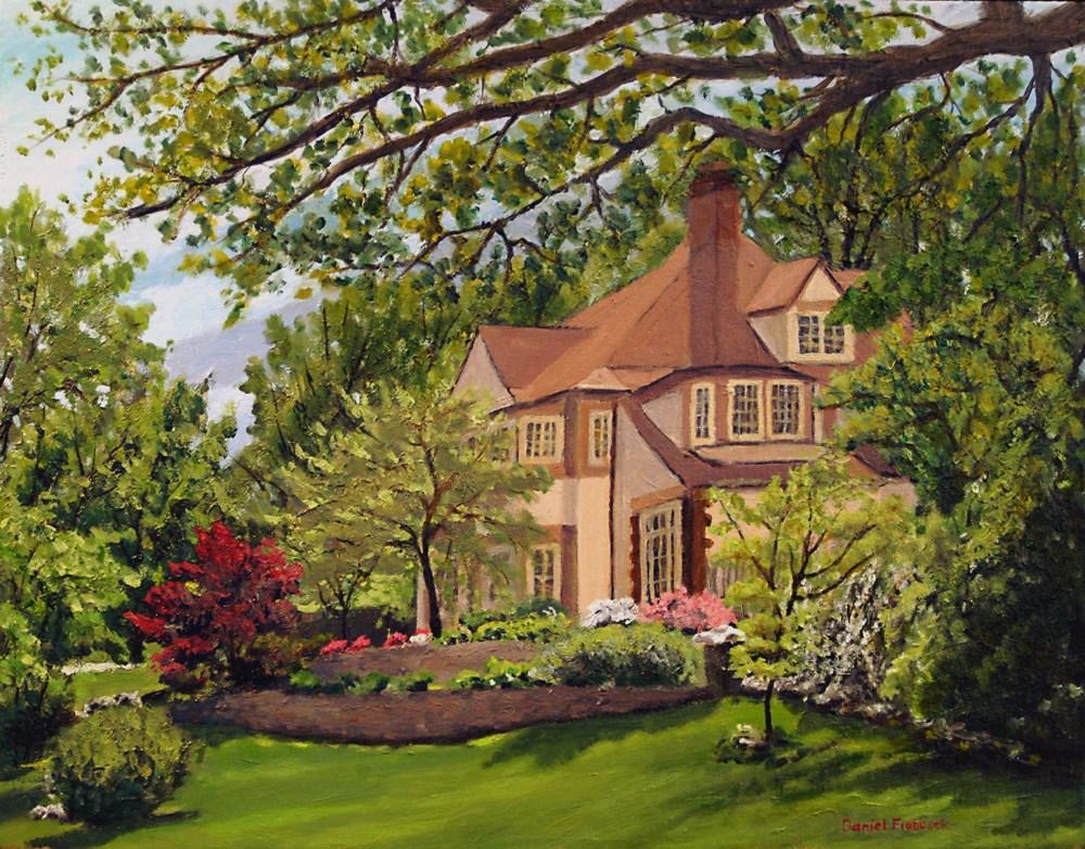 """""""Webster Home"""" original fine art by Daniel Fishback"""