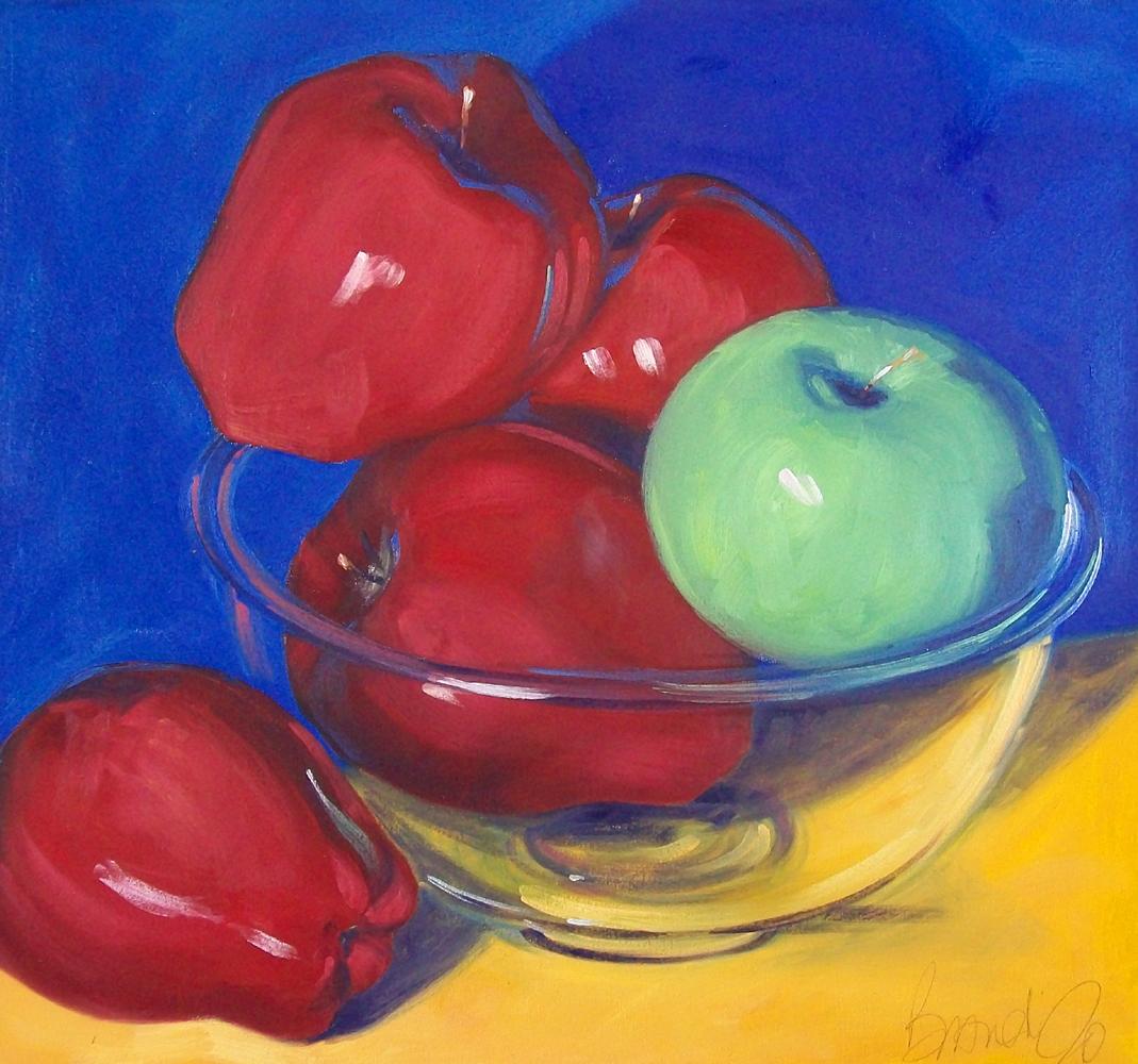 """bowl of apples"" original fine art by Brandi Bowman"