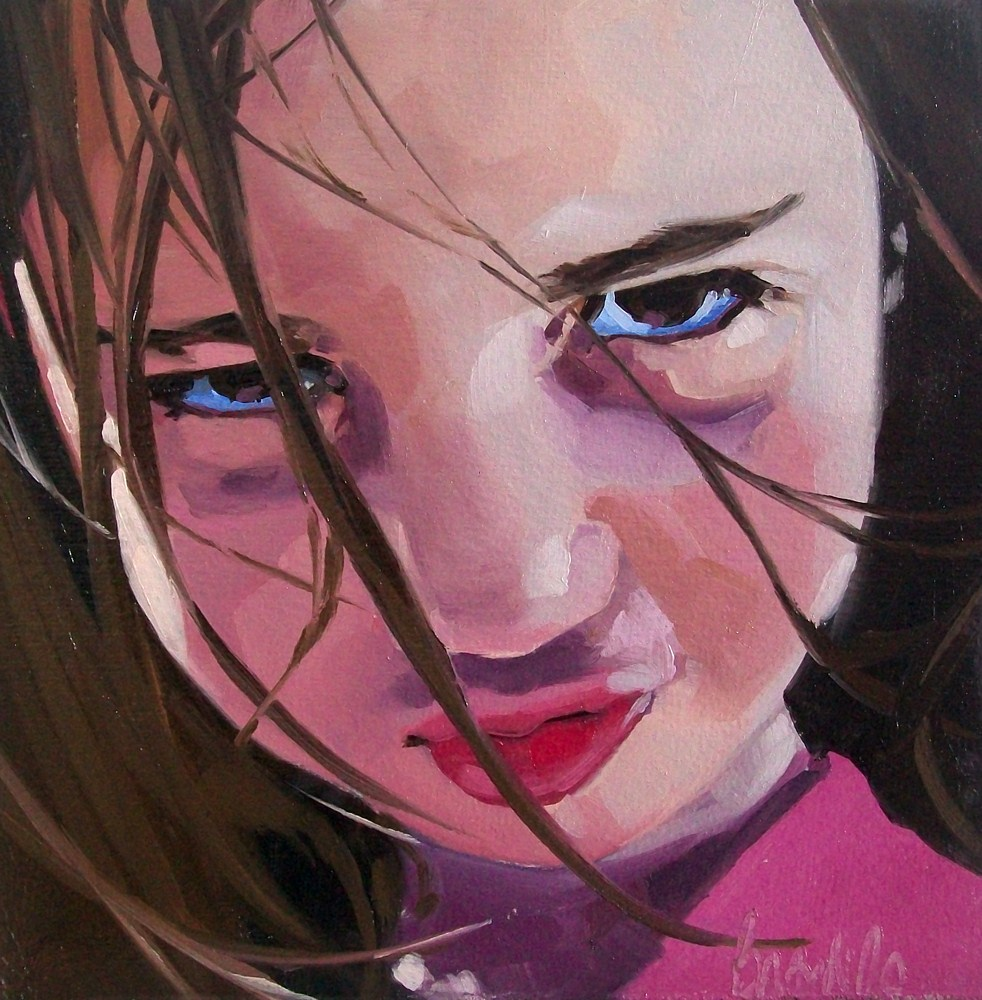 """Girl 14"" original fine art by Brandi Bowman"