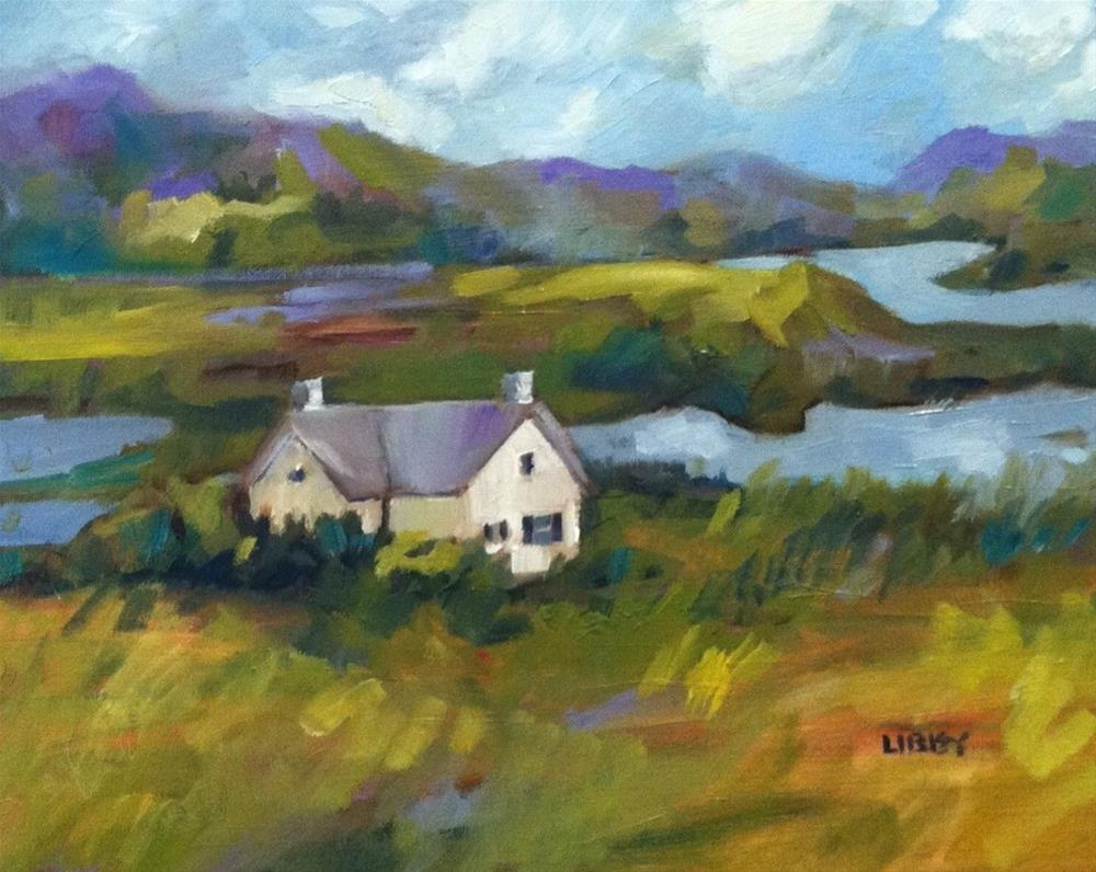 """House by the Water"" original fine art by Libby Anderson"