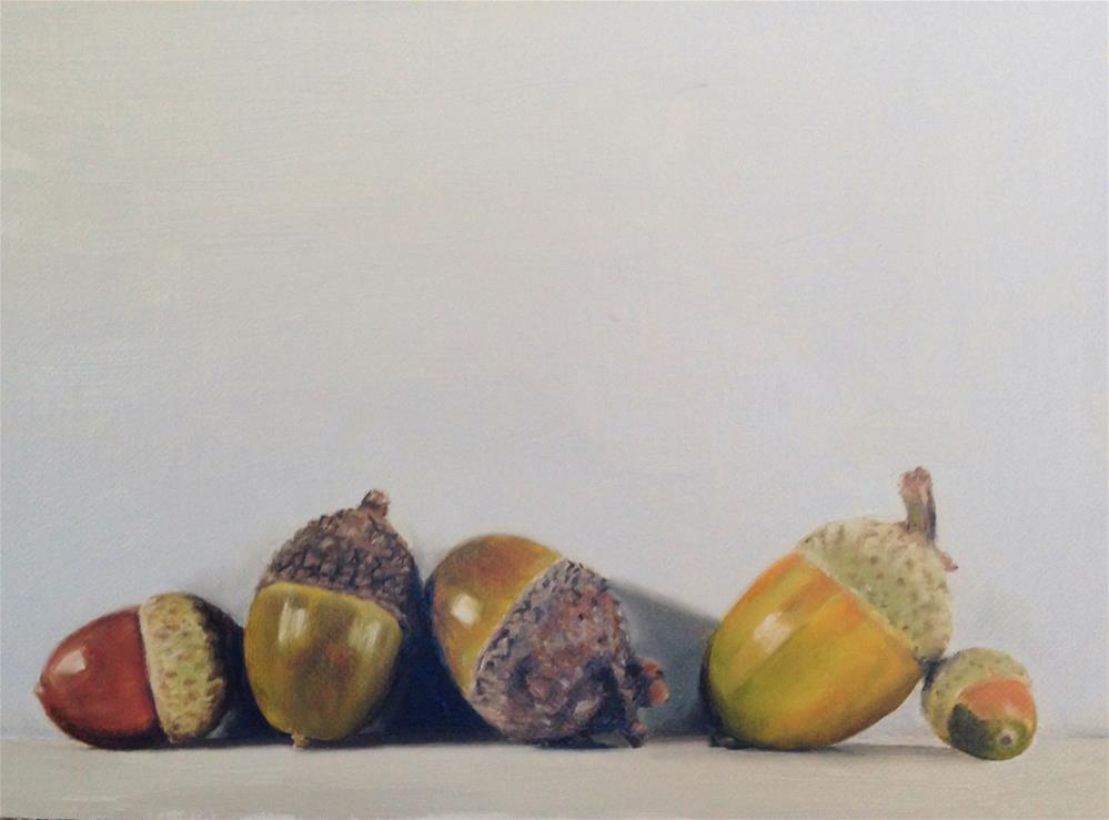 """Acorns"" original fine art by James Coates"